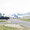 DC-3 taxiing in on the ramp during our lunch break.
