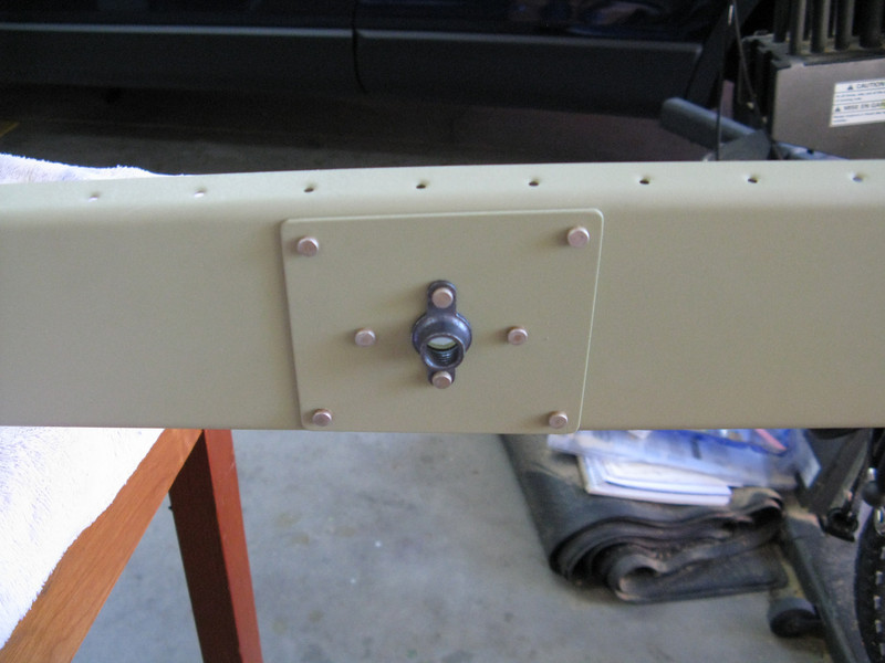 The spar gets 3 doubler plates added along with a nutplate for the places that attach to the Vertical Stabilizer.