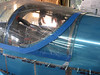 Once the canopy plexiglass was on the fuselage, I marked off more areas to trim.