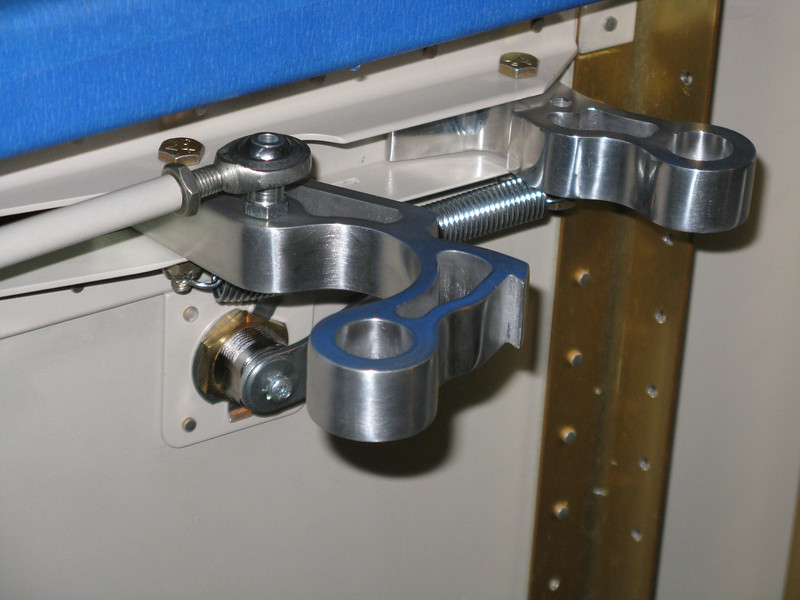 Interior view of open latch.
