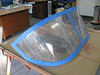 The rear window portion of the canopy bubble. This will get trimmed down to fit under the top fuselage skin.