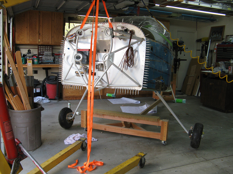 Two legs on. Next up is the nose gear.
