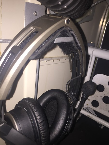 I shamelessly stole this idea for headset storage from Van's demonstrator aircraft. This is another item that should be a standard addition to the plans.