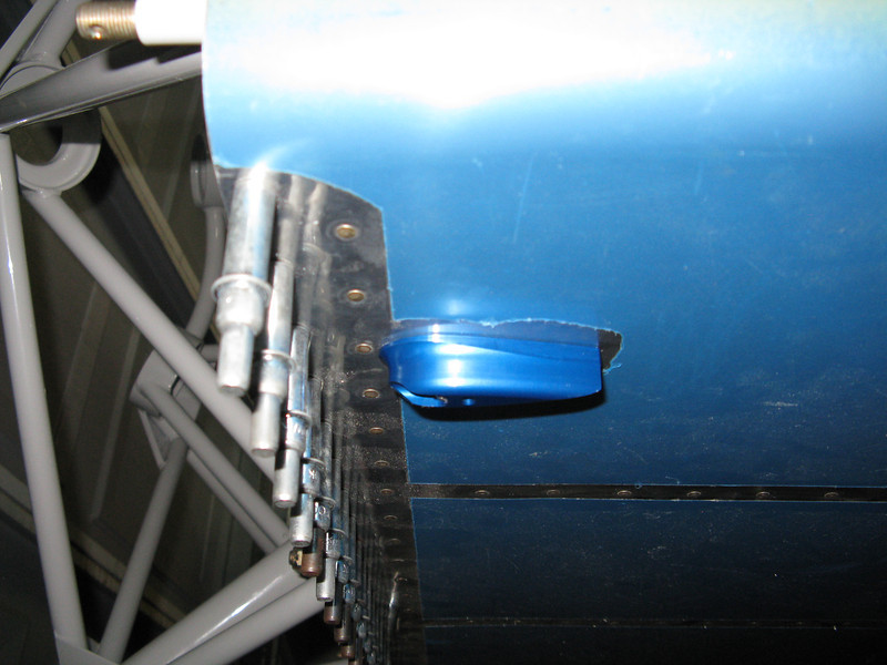 """More """"bling"""" from JDAir.com. Fuel vent fairings are much nicer than Van's design of a hacked up AN fitting."""