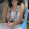 I got my daughter Alicia to try on the seat belts just to see if they fit well for someone other than me. She was happy with the fit and got to sit in the plane for the first time.