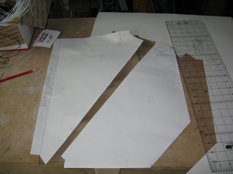Continuing with the soundproofing, I made some templates for the firewall.