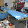 Had to make some room to lay the horizontal stabilizer on the tail.