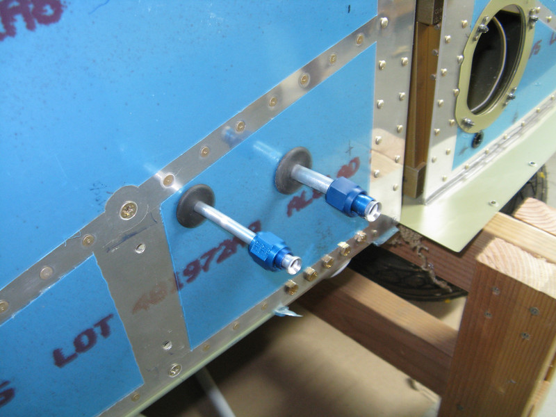 Another task completed was to cut the fuel and vent lines to length, and then put the flared fittings on.