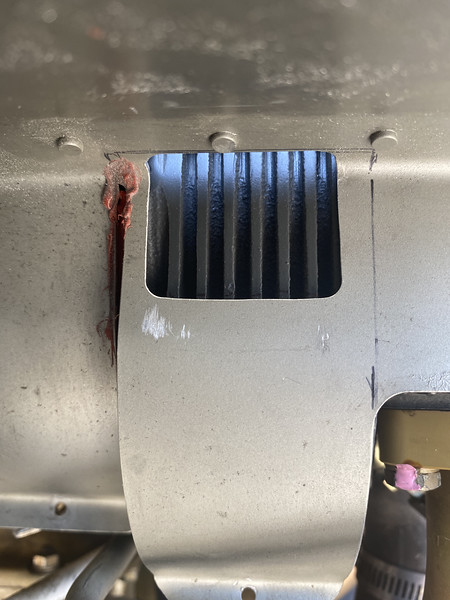 I also cut out room on the lower baffle.