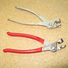 Cleco pliers are used to get the clecos on and off.