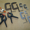 A variety of clamps, both spring type and C-clamps. I've got lots more of these.