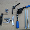 Tools for tubing include a flaring tool, cutter and benders (small, large and spring type).