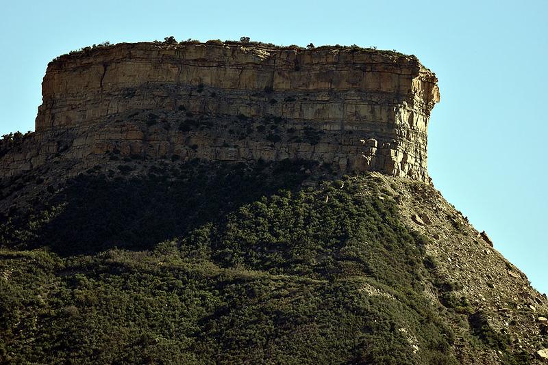 Mesa Verde National Park entrance.