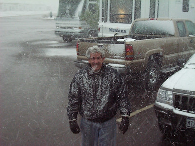 Sierra Vista Stay, Chris in snow