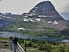 Glacier National Park, Chris at Hidden Lake Overlook