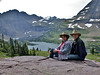 Glacier National Park, Chris and Jan at Hidden Lake Overlook