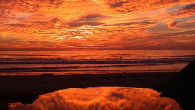 Spectacular Sunset in Oceanside, CA  Sunset at Oceanside, CA