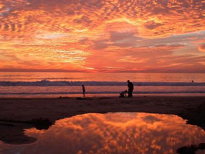 Sunset at Oceanside, CA
