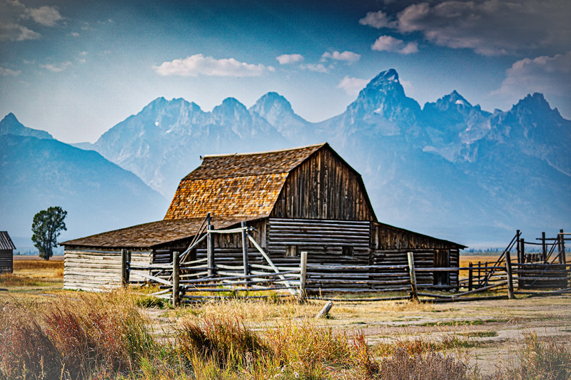 Historic Barn Mormon Row Grand Tetons