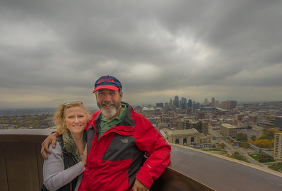 Tami and I on the observation deck of the WWI Monument