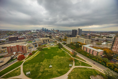 View of Kansas City MO from observation deck