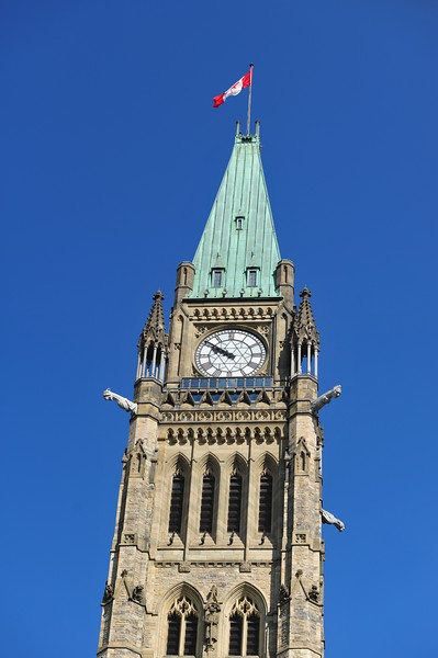 The clock tower of the Centre Block building
