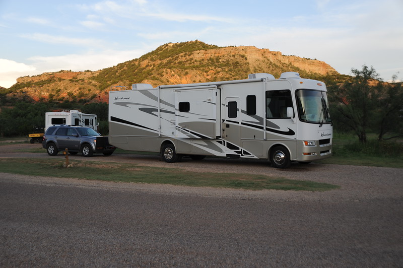 Our RV spot while in Palo Dura Canyon Park in Texas