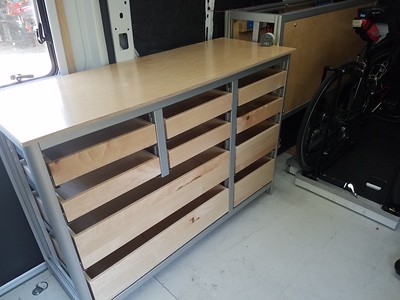 first draft of the drawer cabinet