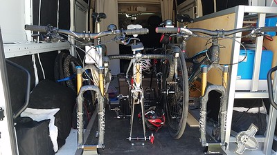 Four bikes, in a small space.
