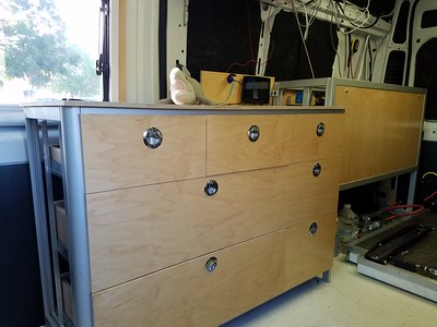 drawer cabinet installed