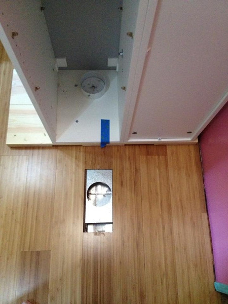 Sep.2013: We moved the entire (heavy) cabinet (4 units bolted together) to reroute the heater duct that is incoveniently located precisely where we wanted the cabinet.
