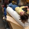Zoe enjoying the ride through Ikea.