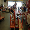 Molly and Zoe enjoyed the ride through Home Depot.  Afte ran hour of being monkeys, a staff person finally noticed and commented ...