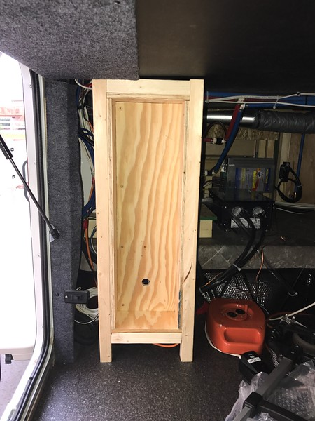 Recessed box to contain Disconnect and Control Boxes