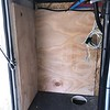 13. Off Door Side of Chase - 2 of 3 walls up - 2 vinyl lines for black tank flush relocated.