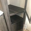 More storage in bath. Towel storage not shown