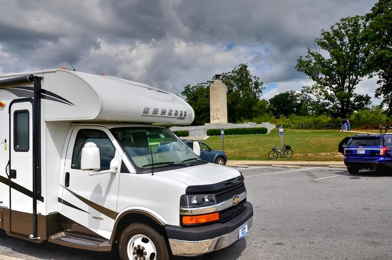 2014 VACATION IN OUR COACHMAN CONCORD 220  LE. FLORIDA TO WASHINGTON DC. THEN ALONG THE COAST BACK TO FLORIDA.