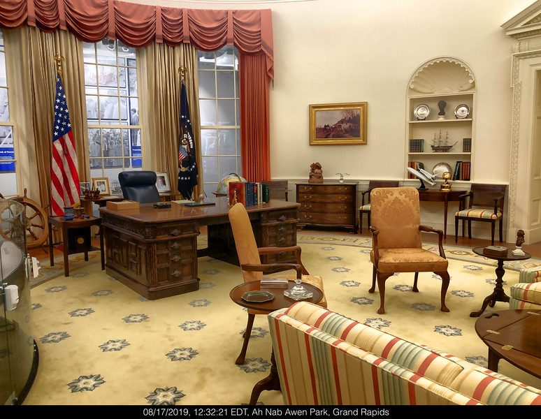 GERALD R. FORD. RE-CREATION OVAL OFFICE DURING HIS TERM