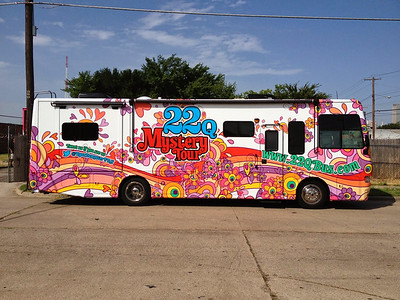 Bus Wrap for the 22q Mystery Tour in Dallas, TX www.skinzwraps.com