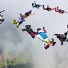 """Jumpers build 13-way formations during the Arizona Airspeed RW  Camp at Chicagoland Skydiving Center in Rochelle, IL. <a href=""""http://skydivecsc.com"""">http://skydivecsc.com</a> Photography by Chris Wilkins of Island Sky Productions"""