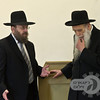 The Rosh Hayeshiva talking with Rabbi Berkowitz