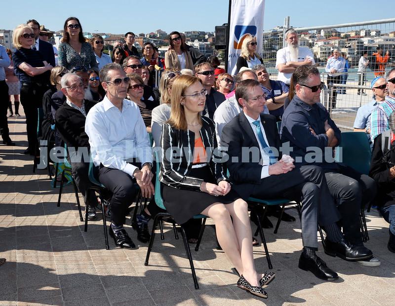 Rabbi Dovid Slavin Plaque at Bondi Beach. Pic Noel Kessel.