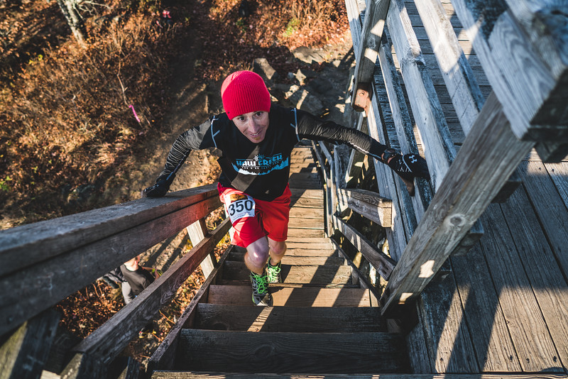 Runners climbed to the top of the Rabun Bald Lookout Tower for the ultimate views