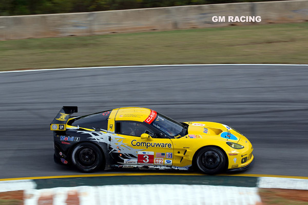 Corvette Racing, American Le Mans Series, Petit Le Mans at Road Atlanta in Braselton, Georgia, October 2, 2010, C6.R #3 driven in GT2 class by Johnny O'Connell, Olivier Beretta, and Antonio Garcia, C6.R #4 driven in GT2 class by Oliver Gavin,  Jan Magnussen, and Emmanuel Collard (Richard Prince/GM Racing Photo).