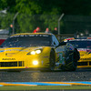 Corvette Racing, 24 Hours of Le Mans in Le Mans, France,  June 16-17, 2012, Compuware Corvette C6.R #73 driven by Jan Magnussen, Antonio Garcia, and Jordan Taylor, Compuware Corvette C6.R #74 driven by Oliver Gavin, Tommy Milner, and Richard Westbrook (Richard Prince/Corvette Racing Photo).