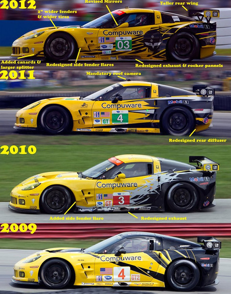 # 3, 4 - 2009, ALMS GT2 colors thru 2012