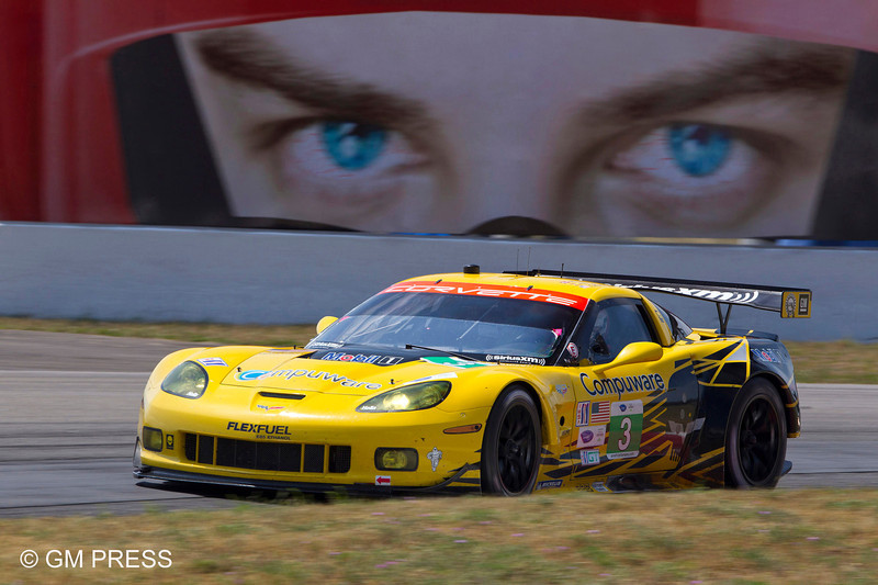 Corvette Racing, American Le Mans Series, Grand Prix of Mosport, Bowmanville, Ontario, Canada, July 22, 2012. Compuware Corvette C6.R #3 drivers Jan Magnussen and Antonio Garcia finished second in GT and Compuware Corvette C6.R #4 drivers Oliver Gavin and Tommy Milner finished 10th in GT (Richard Prince/Corvette Racing Photo).