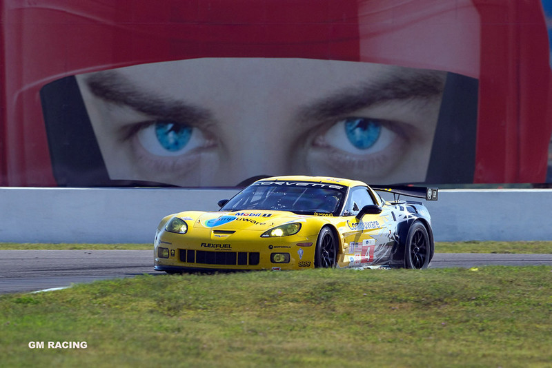 Corvette Racing, American Le Mans Series, Mosport,  August 29, 2010, C6.R #3 driven in GT2 class by Johnny O'Connell and Olivier Beretta, C6.R #4 driven in GT2 class by Oliver Gavin and Jan Magnussen (Richard Prince/GM Racing Photo).