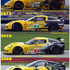 # 3 ALMS GT2, 2012 evolution of Corvette Paint Schemes
