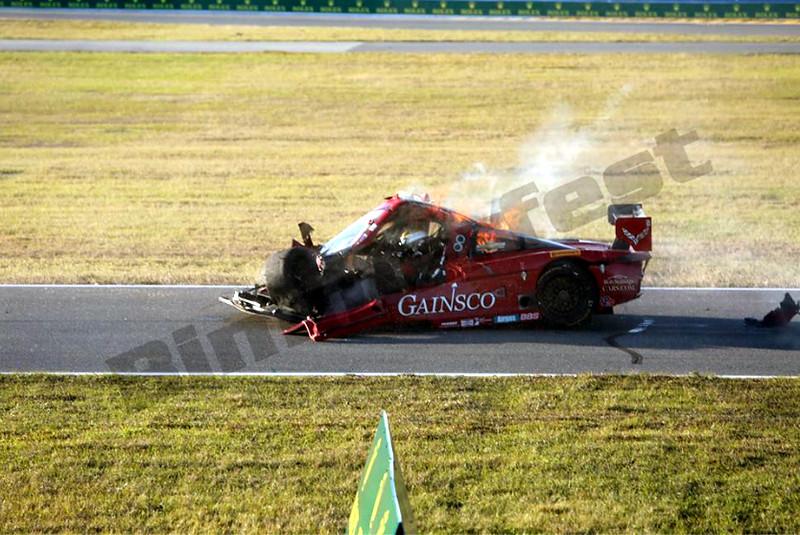 # 99 - 2014 USCR - Gainsco Corvette Memo Gidley hits Ferrari at Daytona - 04